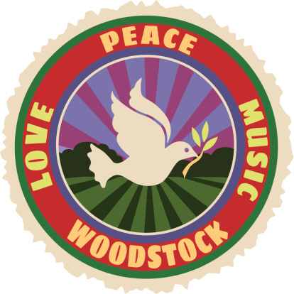 Woodstock luggage label or travel sticker