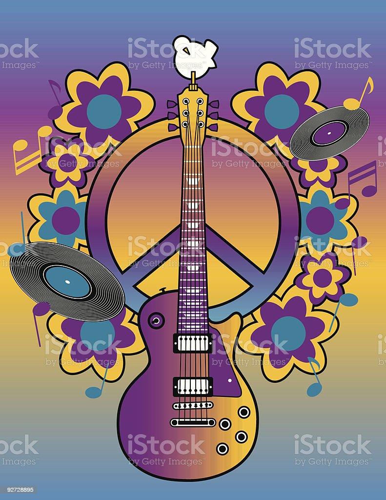 Woodstock Tribute royalty-free stock vector art