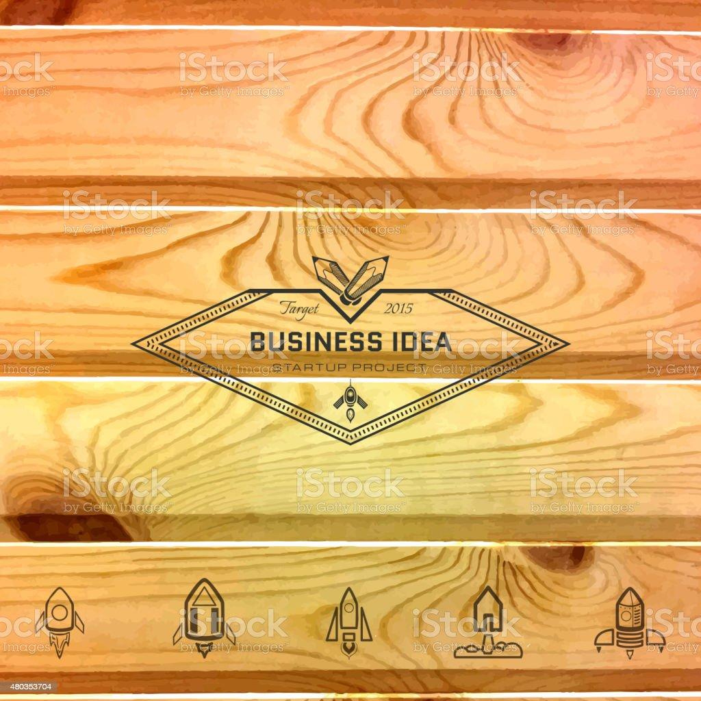 Tarjetas de carpintería logotipos y etiquetas para cualquier uso - ilustración de arte vectorial