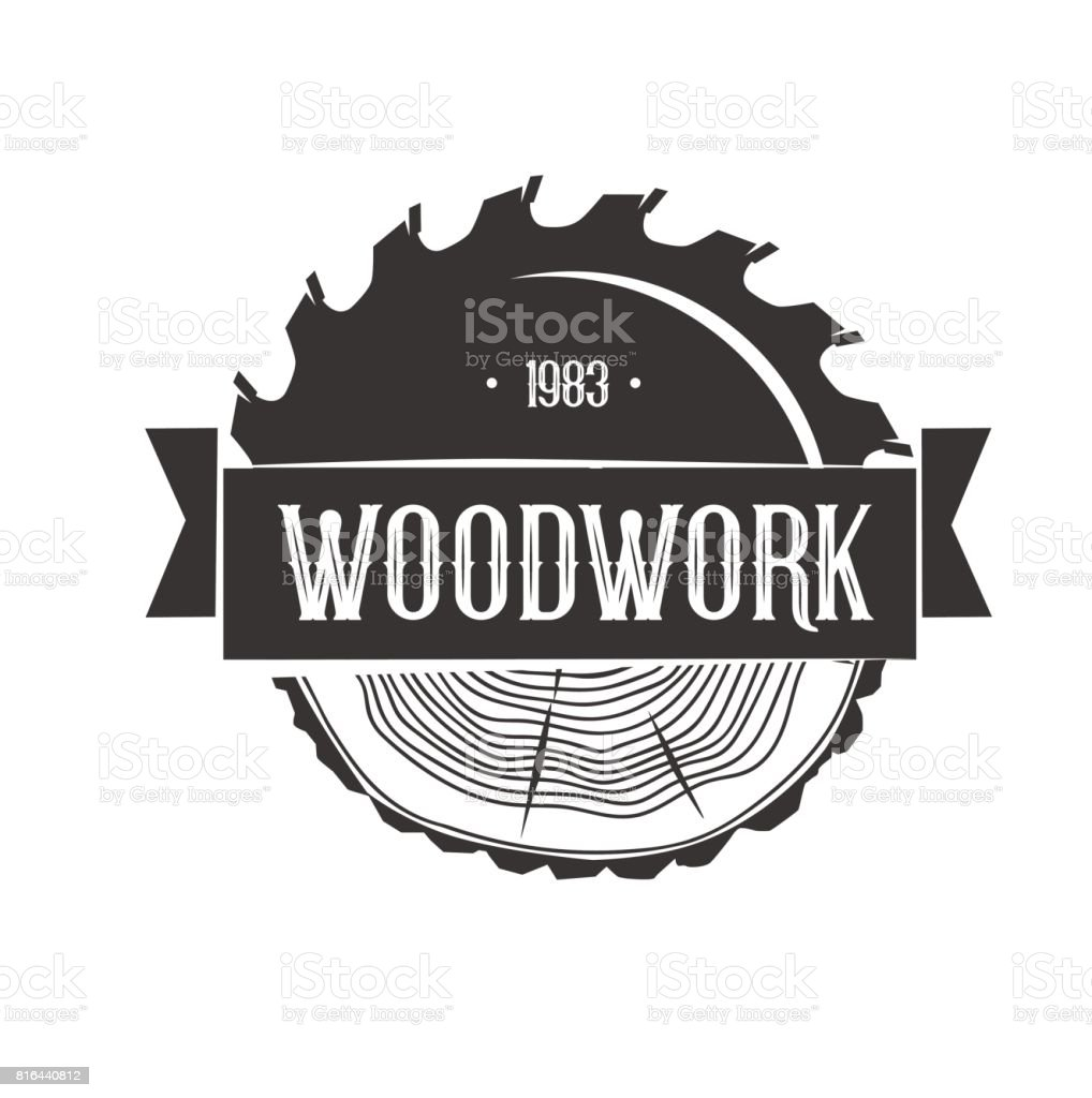 woodworking icon template stock vector art 816440812 istock