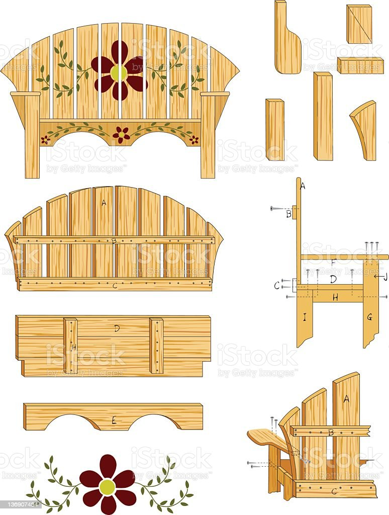 Woodworking Plans vector art illustration