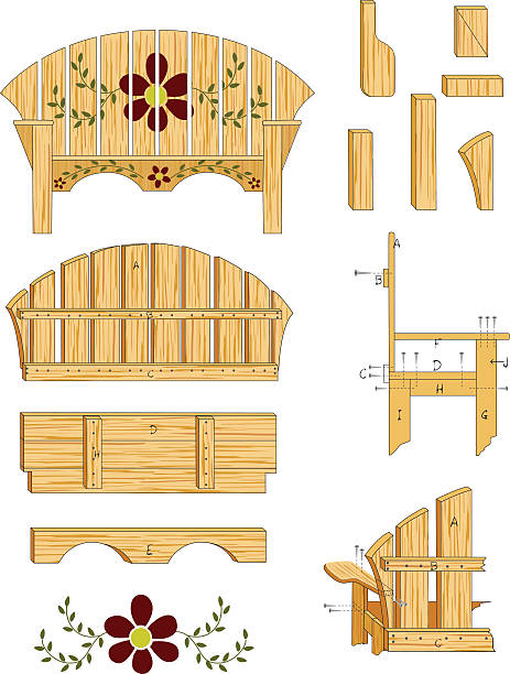 Woodworking Plans vector art illustration