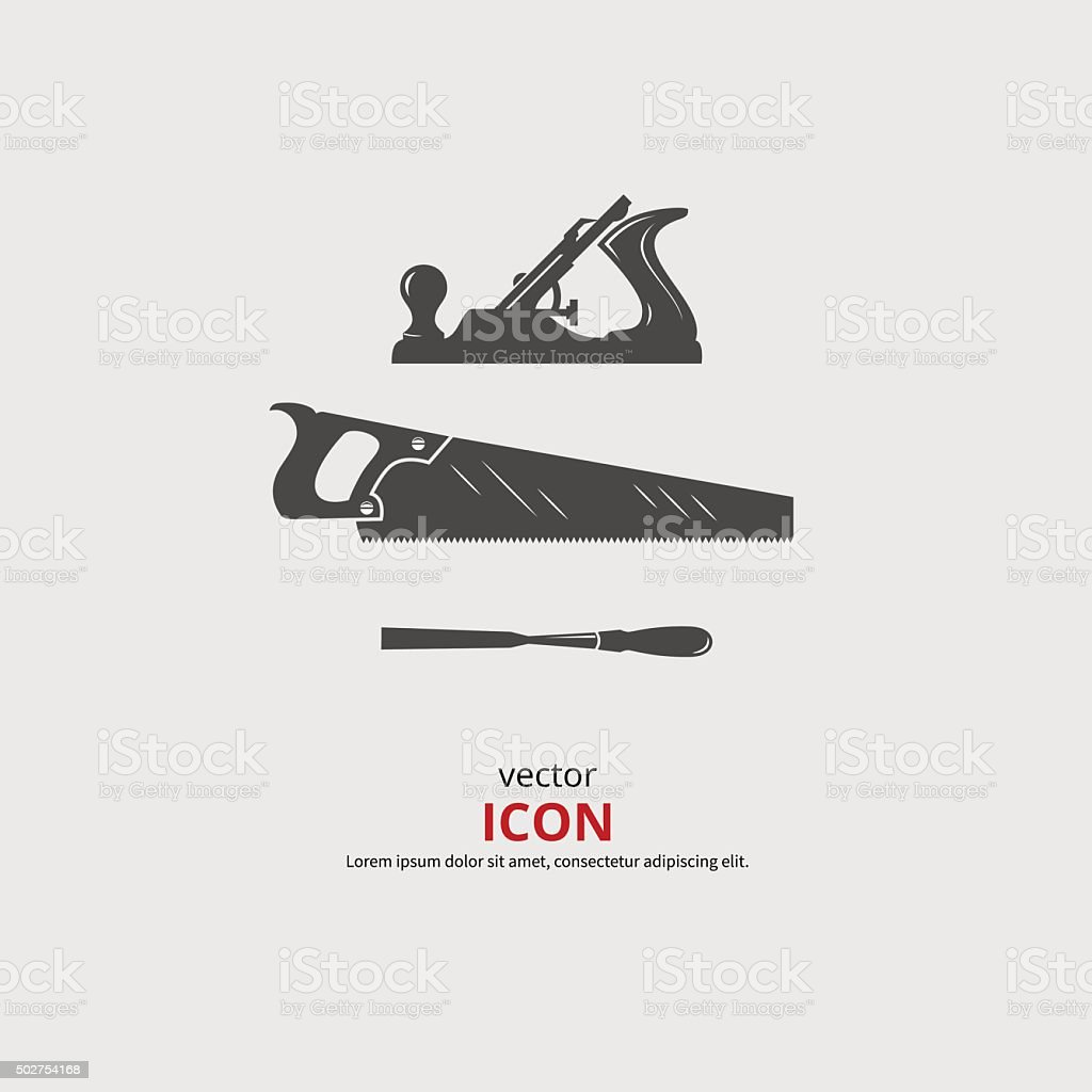 Woodworking Tools Icons Stock Vector Art More Images Of 2015