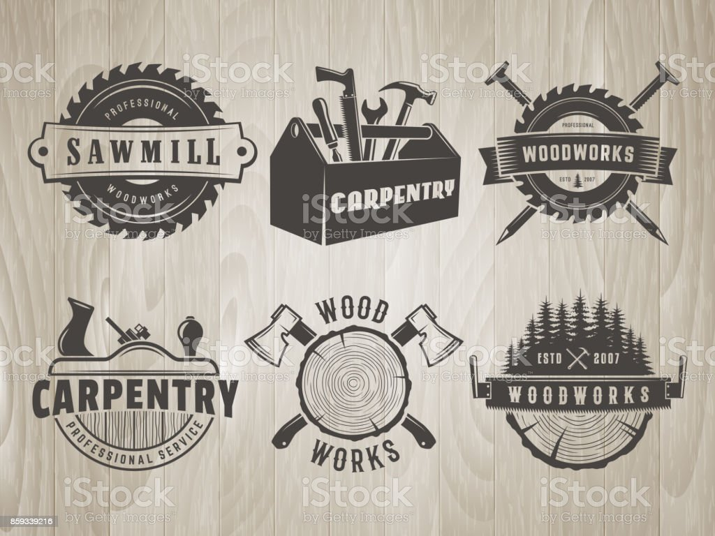 Royalty Free Woodworking Tools Clip Art Vector Images