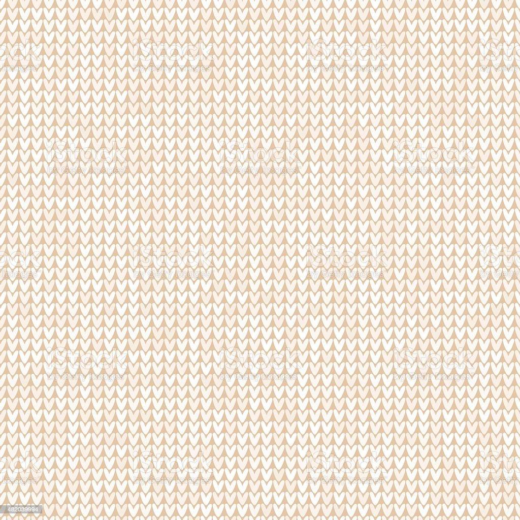 Lana tejido patrón sin costuras fondo blanco - ilustración de arte vectorial