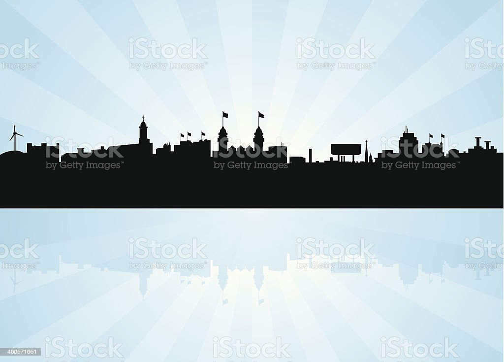 Worcester Massachusetts Skyline vector art illustration