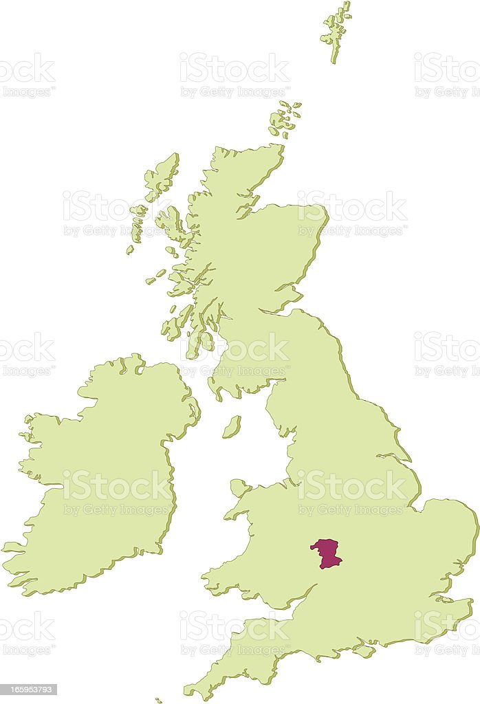 Uk Worcestershire Map Stock Vector Art More Images Of District