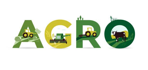 wort agro über landwirtschaft - herbstgemüseanbau stock-grafiken, -clipart, -cartoons und -symbole