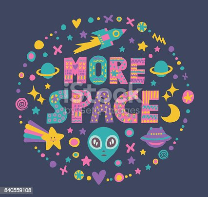 istock Word art More Space 840559108