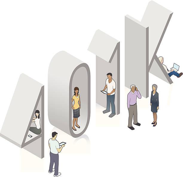 401K Word Art vector art illustration