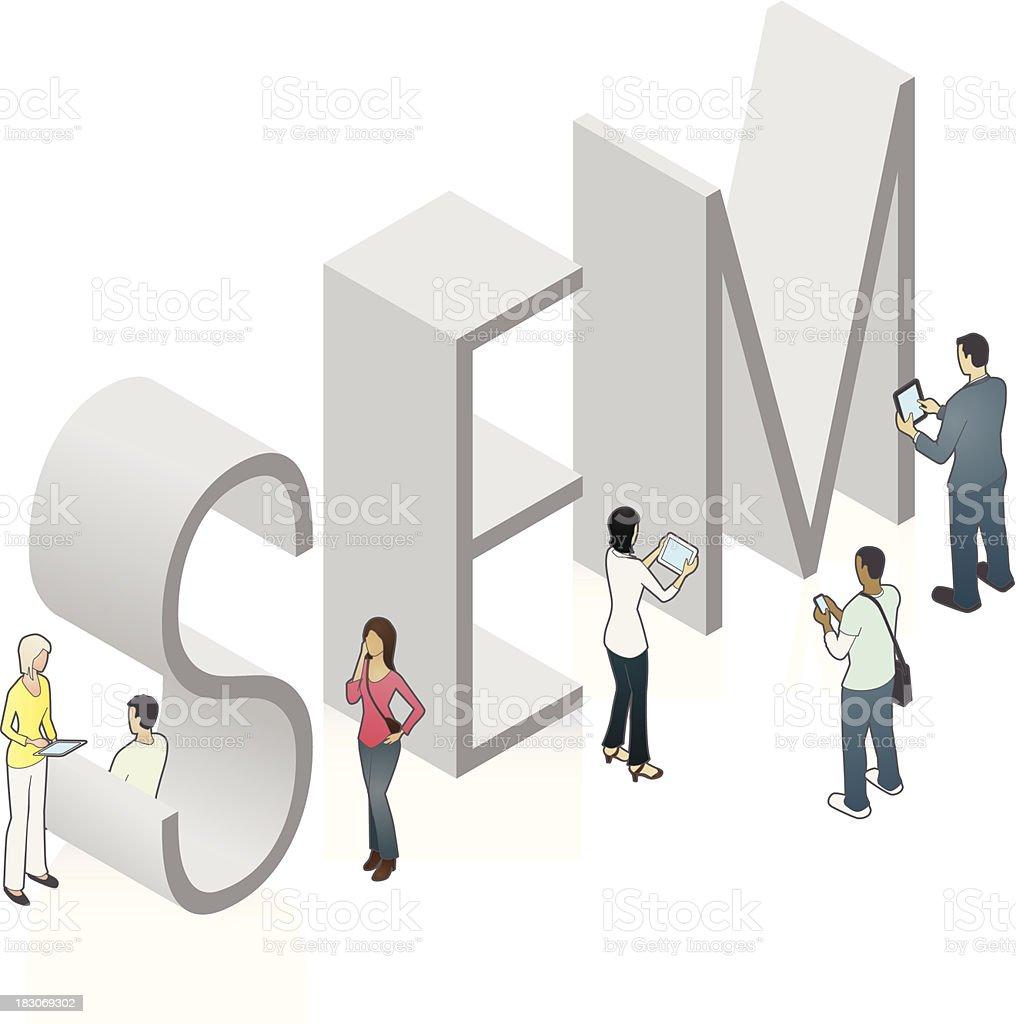 SEM Word Art royalty-free sem word art stock vector art & more images of adult