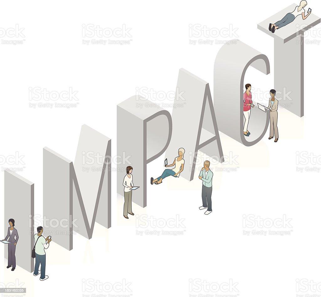 IMPACT Word Art vector art illustration