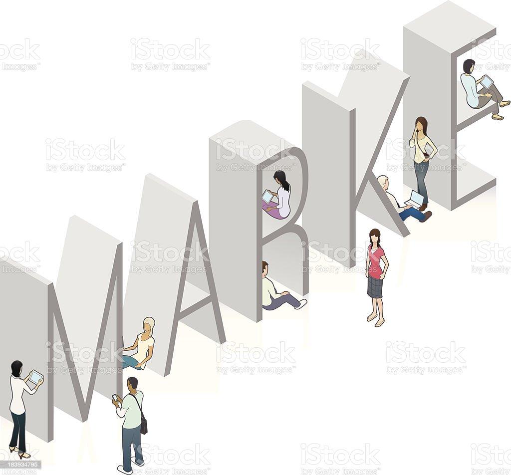 MARKE Word Art vector art illustration