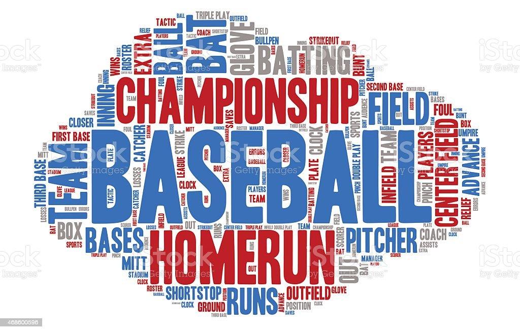 Word Cloud-Baseball Championship  – Vektorgrafik