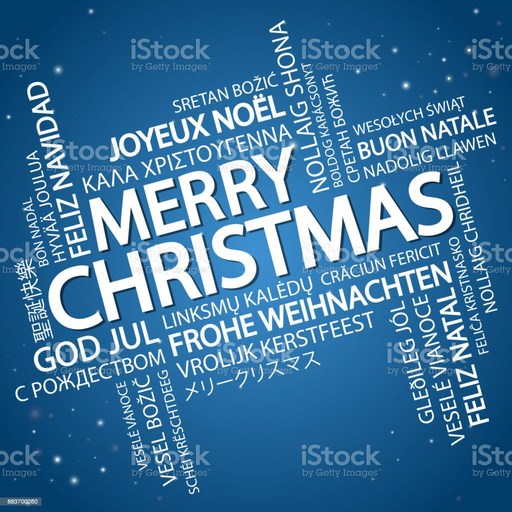 Word cloud Merry Christmas vector art illustration