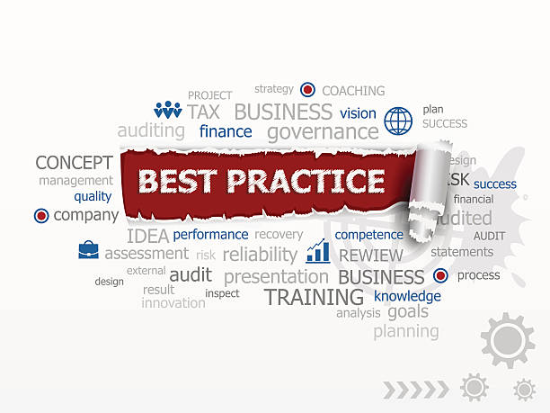 word cloud of best practice concept. - lake superior stock illustrations, clip art, cartoons, & icons