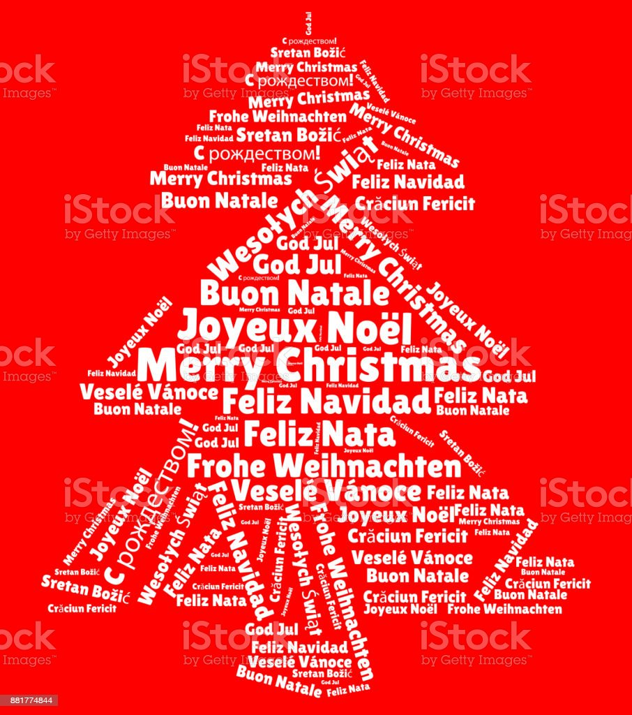 Merry Christmas Different Languages.Word Cloud With Merry Christmas In Different Languages Stock Illustration Download Image Now