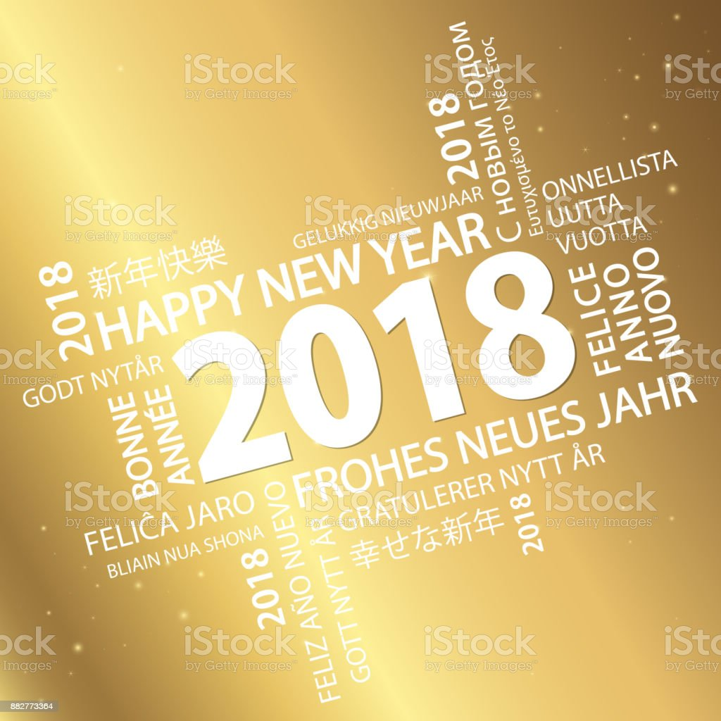 word cloud with new year 2018 greetings royalty free word cloud with new year 2018