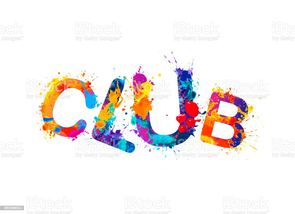 word club of splash paint letters stock vector art more images of