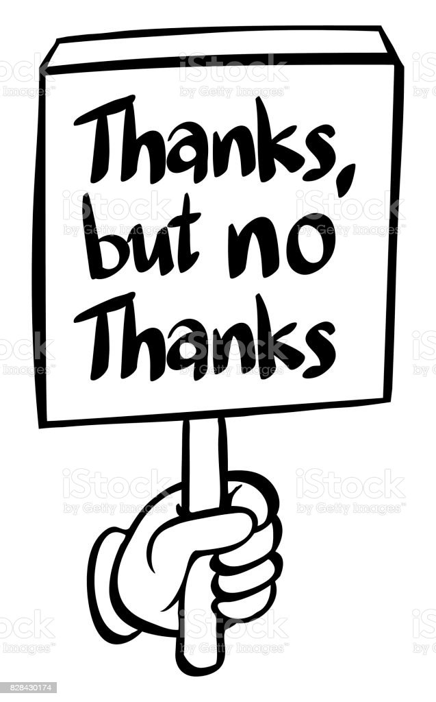 Word Expression For Thanks But No Thanks Stock Vector Art More