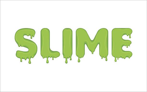 bildbanksillustrationer, clip art samt tecknat material och ikoner med word made of green slime. - cactus lime