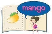 Word mango on children book