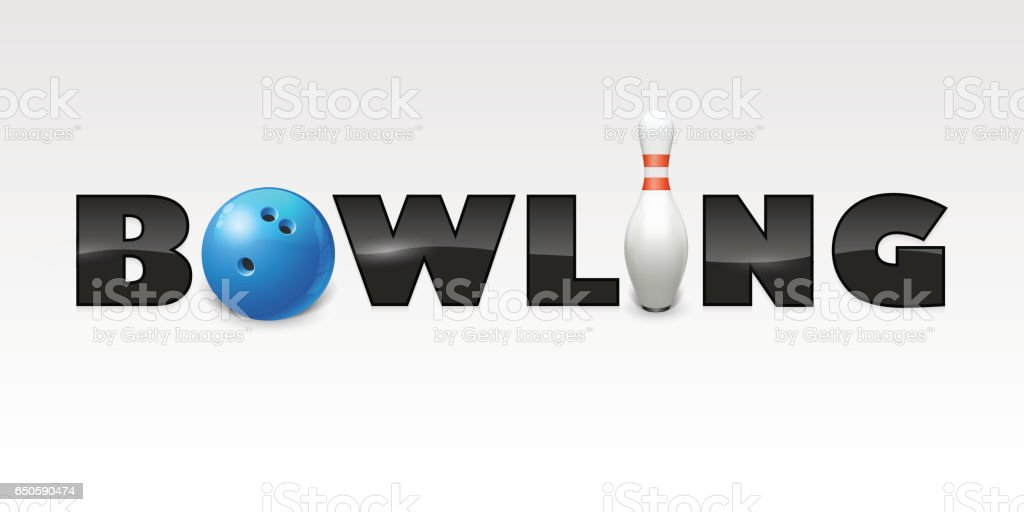 Word of bowling. vector art illustration