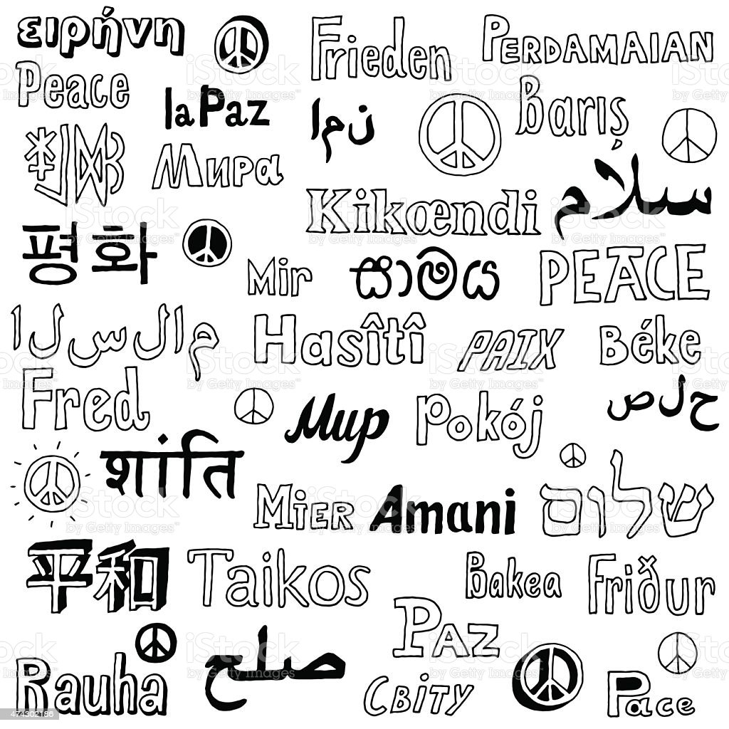 Word Peace In Different Languages Of The World Stock Vector Art - How many types of languages are there in the world