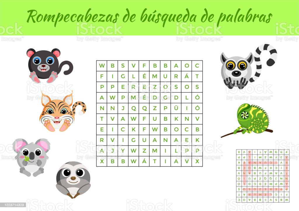 It's just an image of Printable Spanish Word Search with regard to free printable