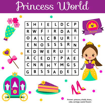 Word Search Puzzle Kids Activity Educational Children Game ...