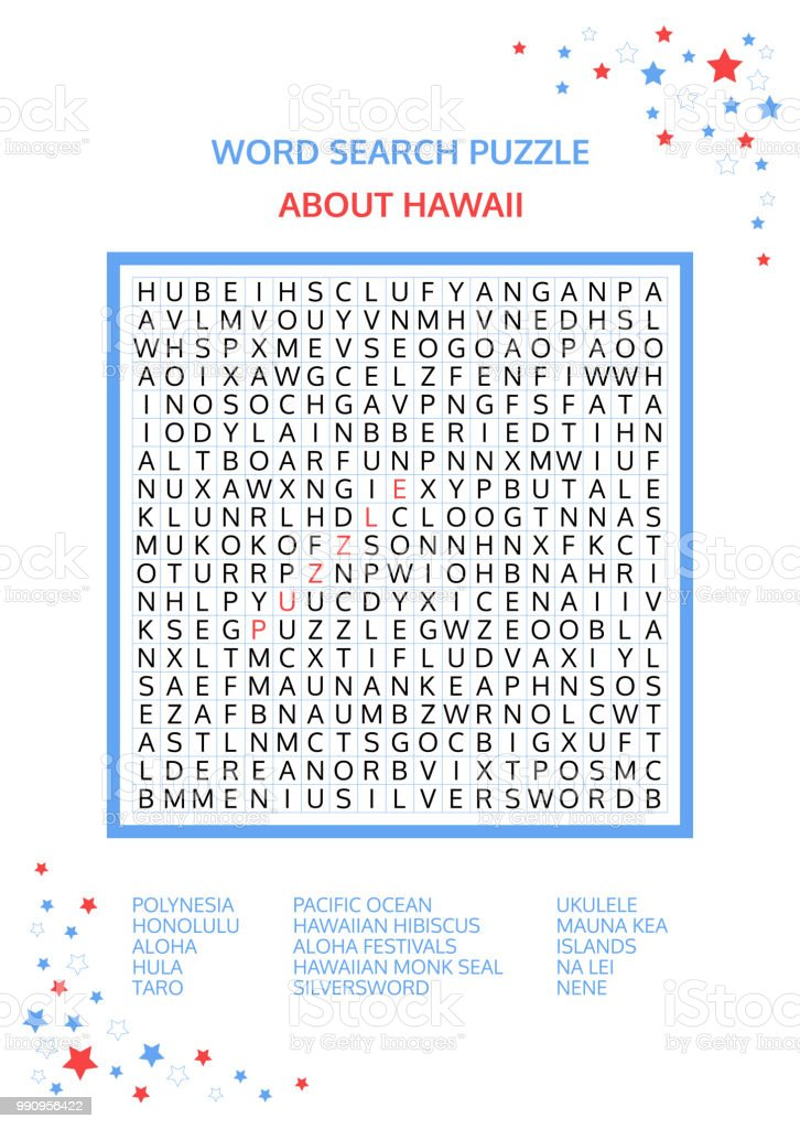 Super Word Search Puzzle Vector Game About Hawaii Worksheet For Download Free Architecture Designs Scobabritishbridgeorg