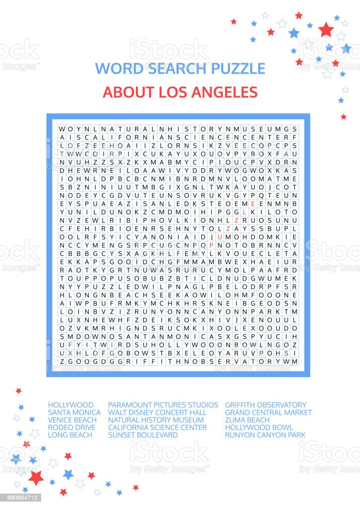 Word search puzzle vector game about los angeles worksheet for word search puzzle vector game about los angeles worksheet for adults teenagers and ibookread Read Online