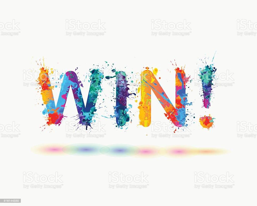 Word win rainbow splash paint stock vector art 516144330 istock single word spray symbol abstract art ccuart Image collections