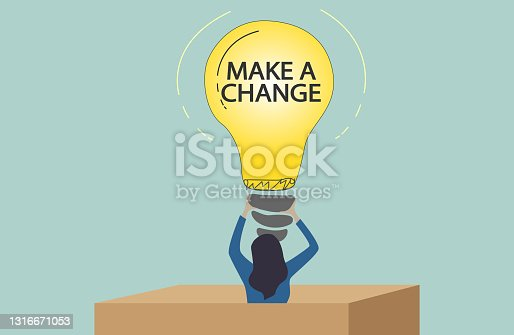 istock Word writing text Make A Change. Business showcasing New Goals Opportunities,Different Approach. 1316671053