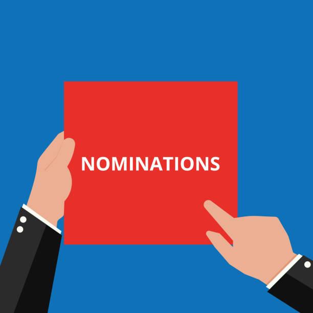 Word writing text Nominations. vector art illustration