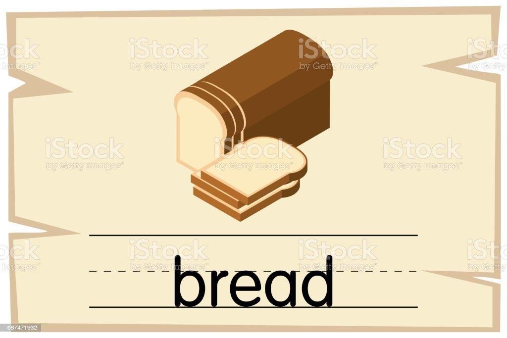 単語パンの wordcard テンプレート おとぎ話のベクターアート素材や