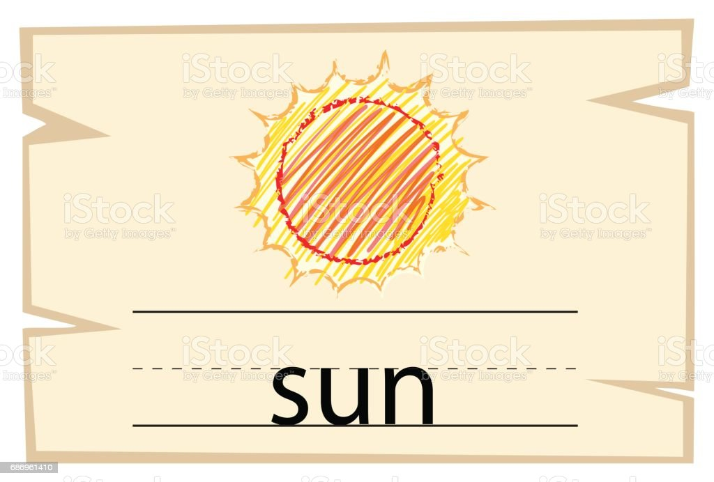 単語太陽の Wordcard テンプレー...