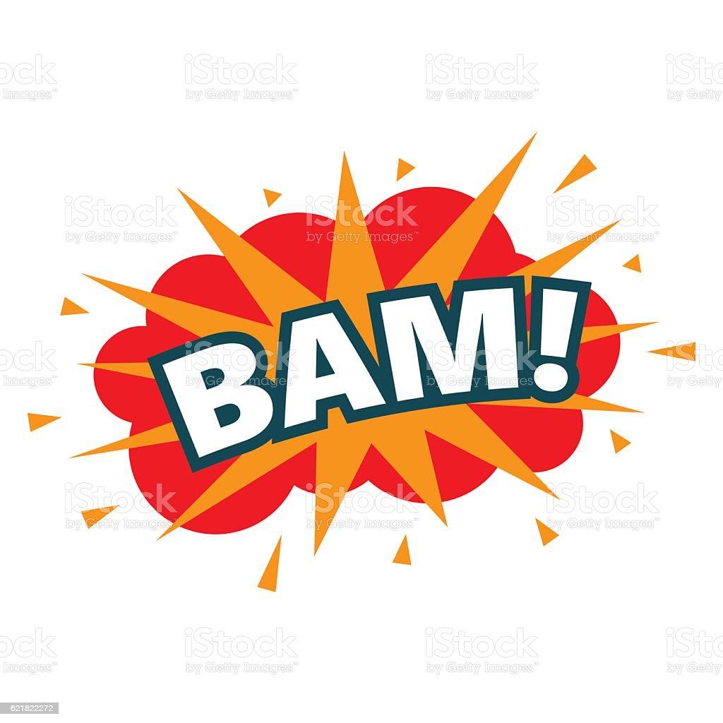 BAM. wording sound effect set. vector art illustration