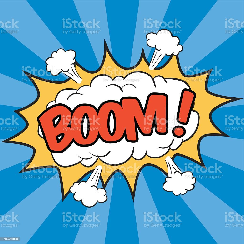 BOOM! - Wording Sound Effect vector art illustration