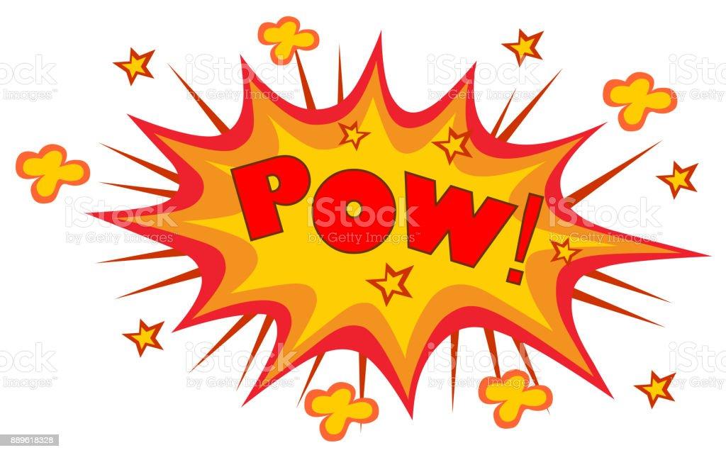 POW! wording sound effect vector art illustration