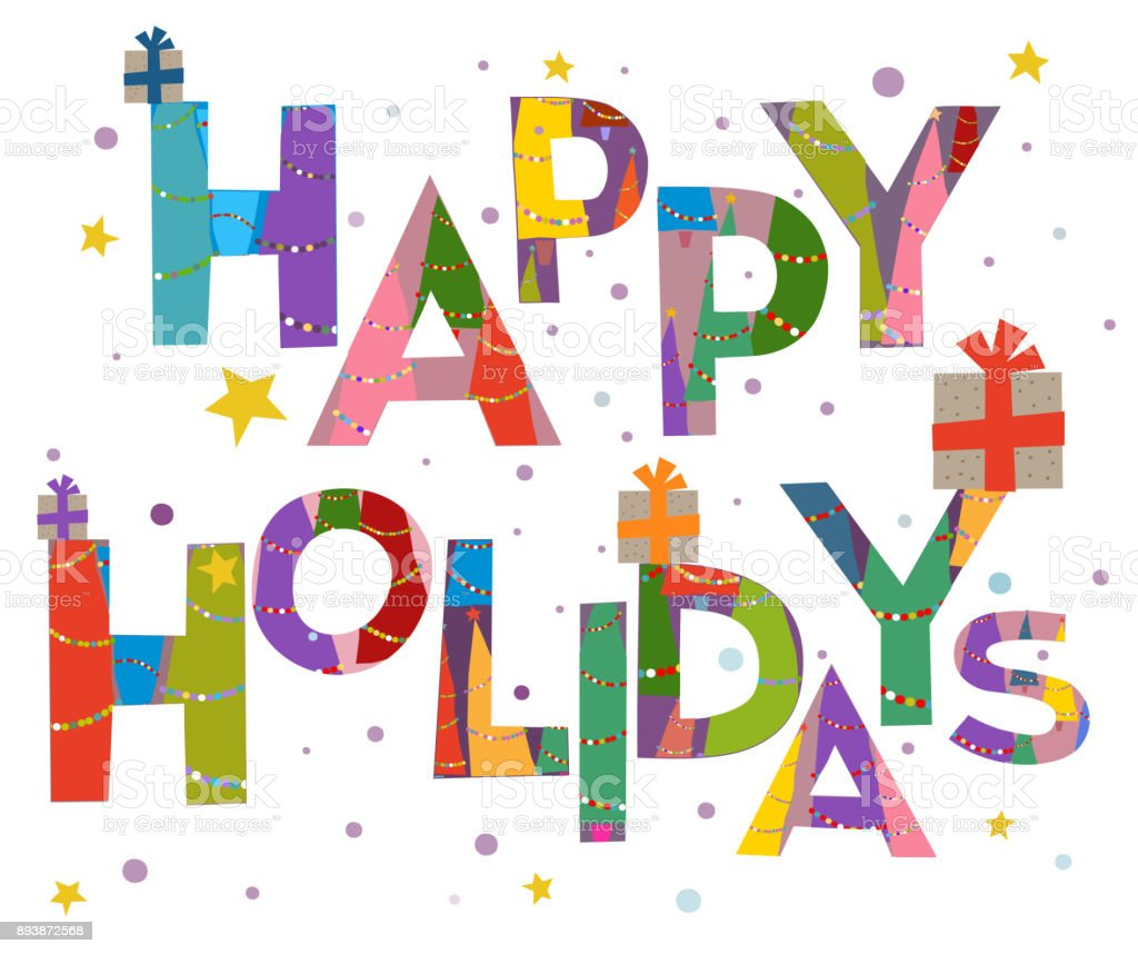 Weihnachten Wörter.Wörter Hintergrund Happy Holidays Text Worte Weihnachten Und Frohe