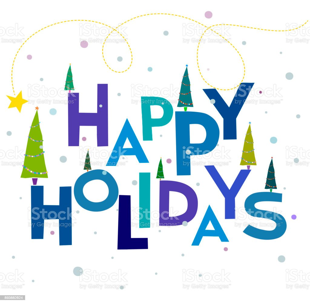 Words Background Happy Holidays Text Words Xmas And Merry Christmas