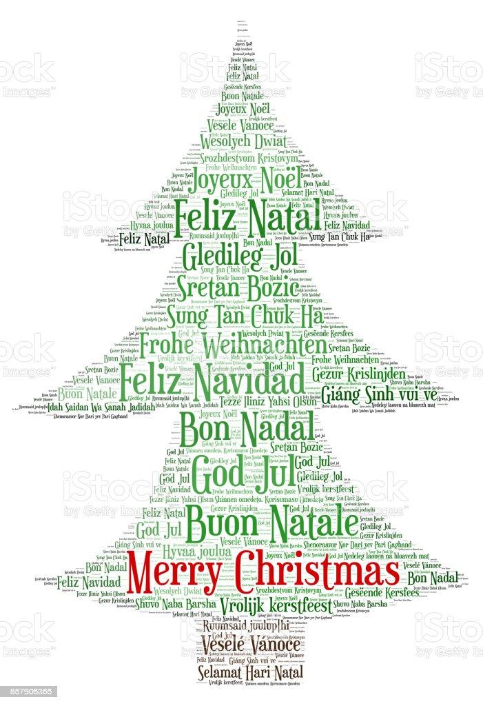 Frohe Weihnachten Auf Allen Sprachen.Wörter Wolke Frohe Weihnachten In Allen Sprachen Der Welt Stock