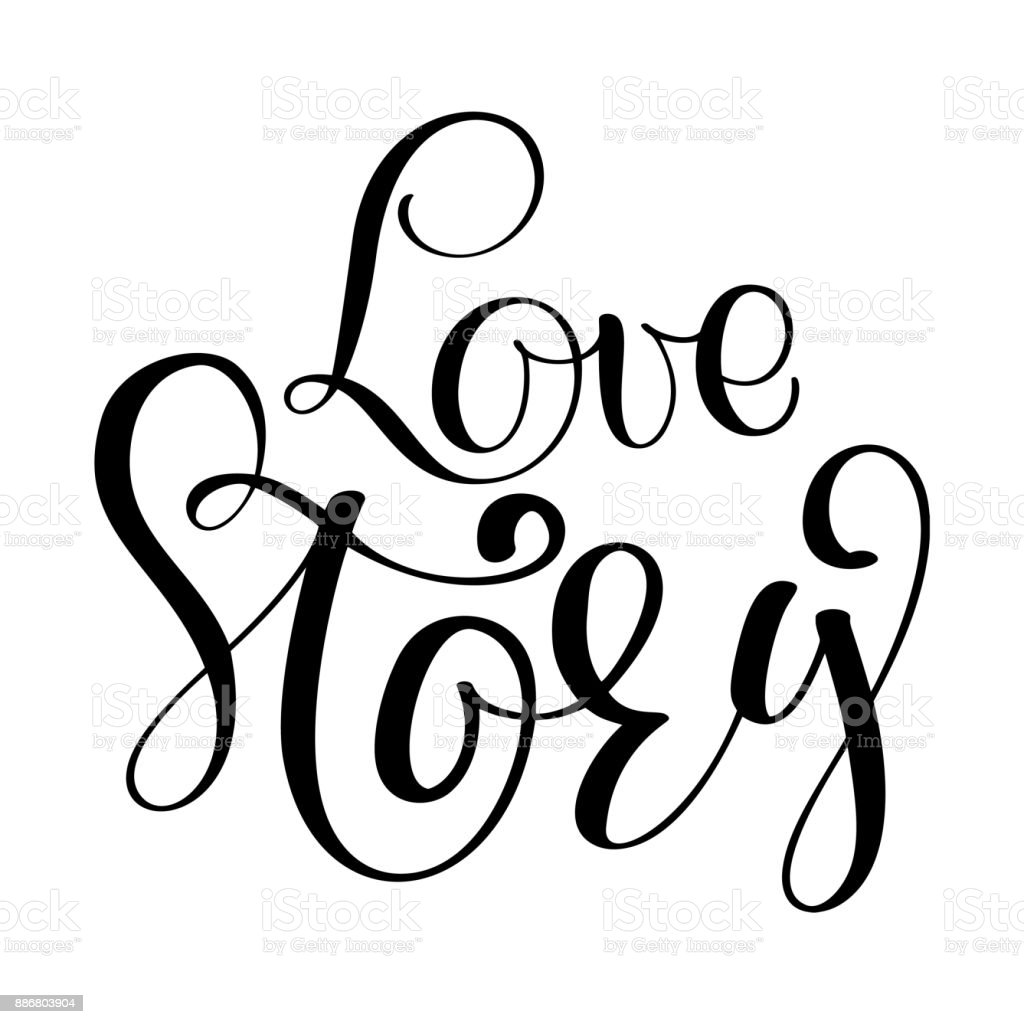 words love story vector inspirational wedding quote hand lettering rh istockphoto com wedding vector images wedding vector png