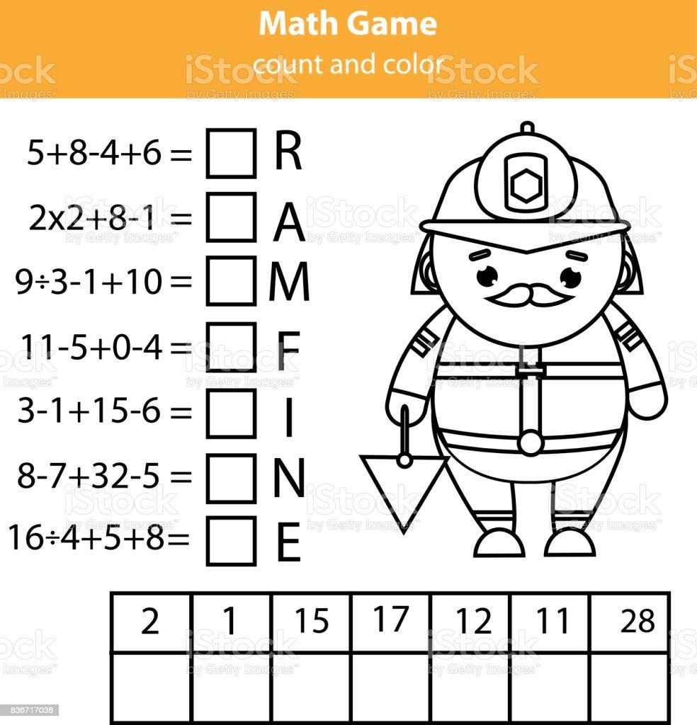 Wörter Puzzle Kinder Lernspiel Mit Mathematik Gleichungen Zählen Und