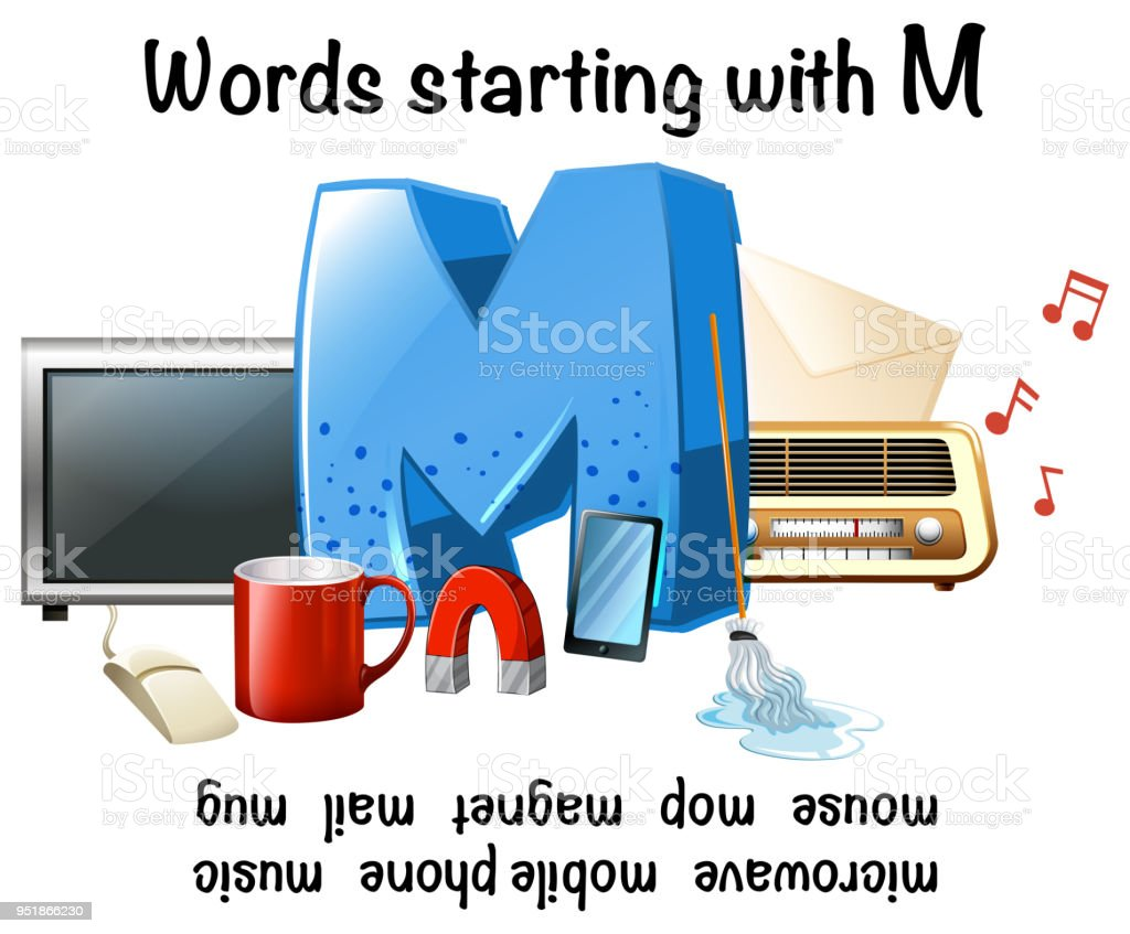 Words Starting With Letter M Stock Vector Art More Images Of