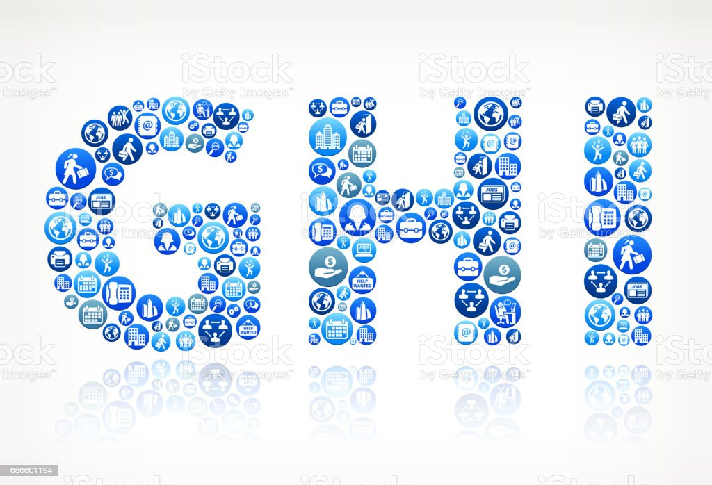 GHI Work and Employment Blue Vector Button Pattern royalty-free ghi work and employment blue vector button pattern stock vector art & more images of adult