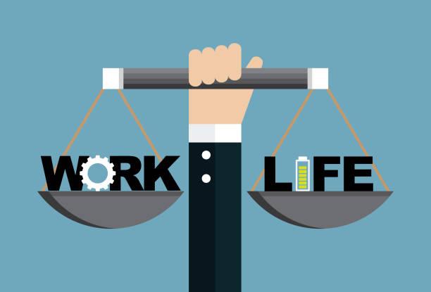 일과 생활 - 균형 stock illustrations