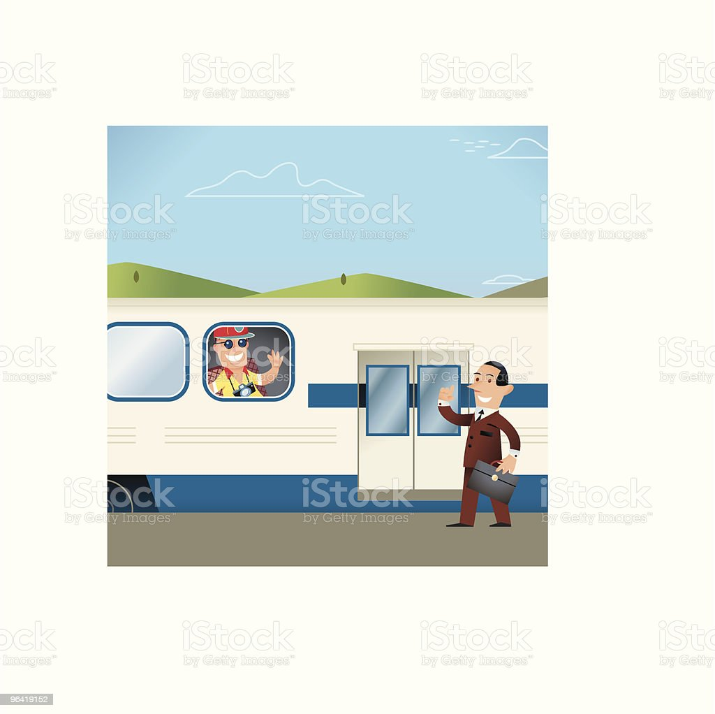 Work and Vacation Train royalty-free stock vector art
