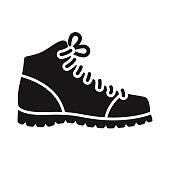 istock Work Boot Construction Glyph Icon 1305161913